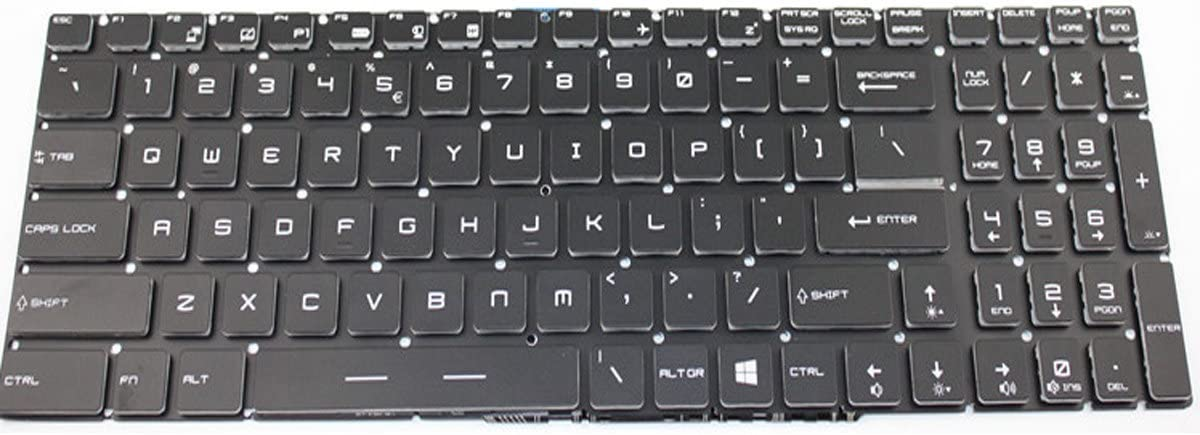 NewHigh Keyboard for MSI GE63 GE63VR GE73 GE73VR GP72MVR GP72VR GP62M US English Layout with Backlit + Clear Protector Cover