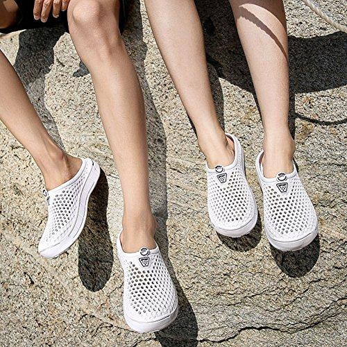 Femme Pantoufles Chaussures à Perméable de Sabots Antidérapant Blanc l'air Flip FOBEY Mules Flops Homme Couple de Plage Jardin Xn5zqw78