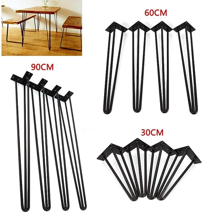 4 horquillas para mesa y armario intercambiables, patas de metal ...