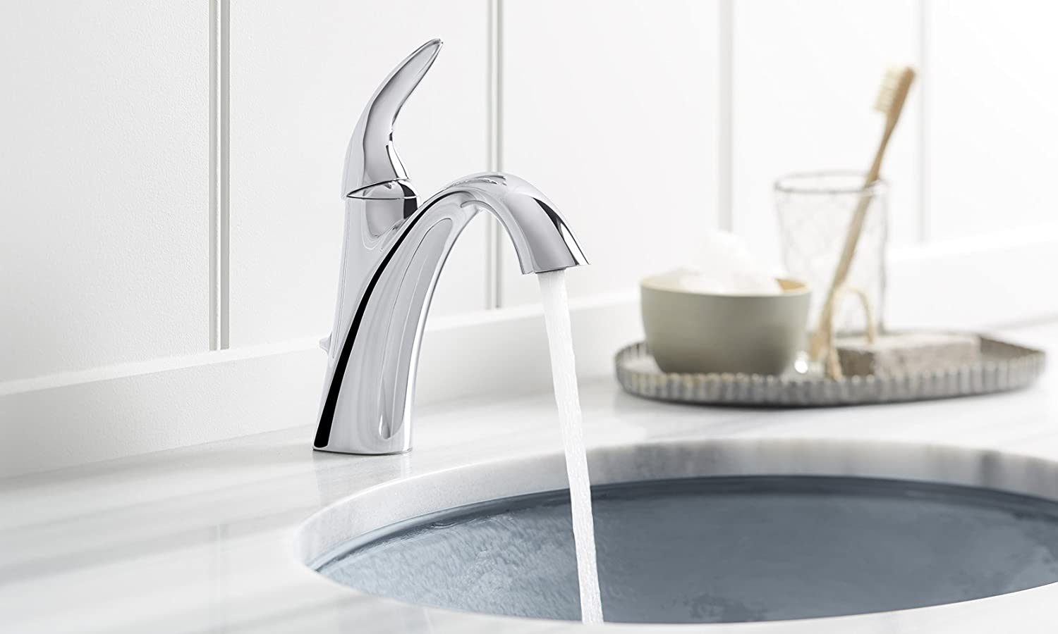 KOHLER K-45800-4-CP Alteo Single-Handle Bathroom Sink Faucet ...