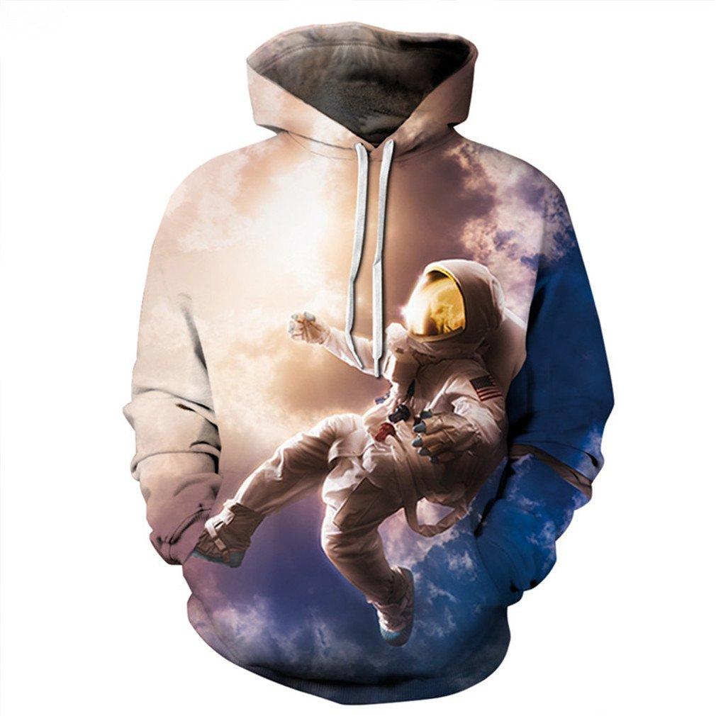 Men Women 3D Sweatshirt Print Hoody Pullovers Astronauts On The Moon Hoodies