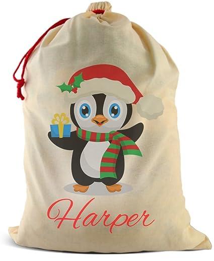 amazon com dinkleboo santa sack by personalized christmas canvas