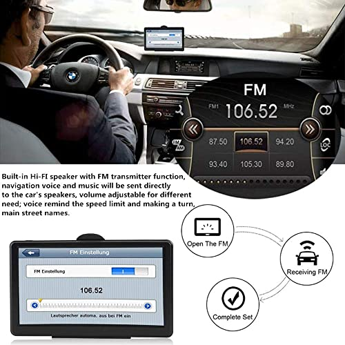 GPS Navigation for Car, PerfectPromise 7 Inch HD Touch Screen, 8GB ROM and 256 MB RAM,Spoken Turn-by-Turn Driving Alert, GPS Navigation System with Free Lifetime Map Updates Black