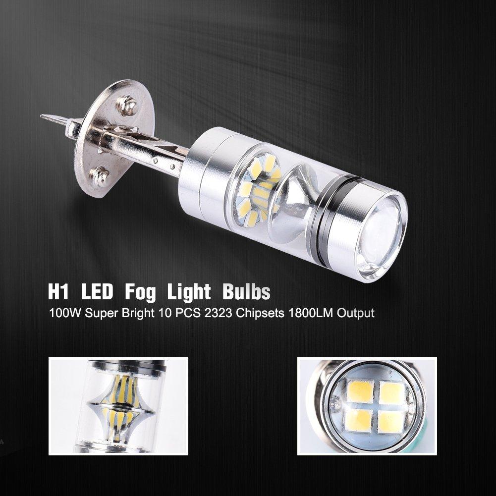 Tuincyn Super Bright 2pcs H11 Car Headlight Bulbs(led) Car Lights H16 Led Fog Lights 360 Degree Led Car Driving Light Fit For Running Light Or Fog Lamps