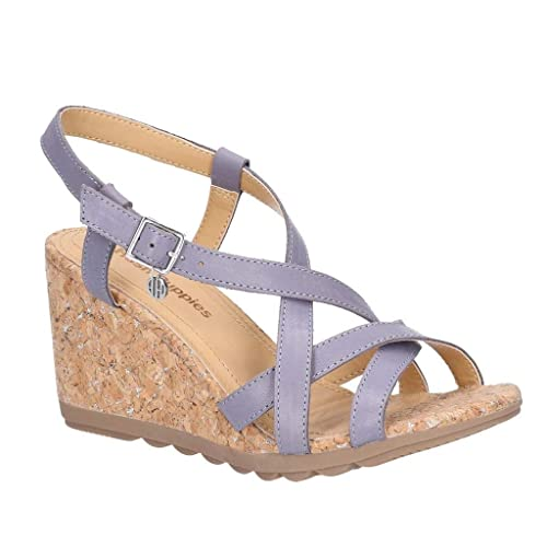 78b849390edf3 Hush Puppies Pekingese Strappy Womens Other Leather Material Sandals Blue -  3 UK