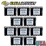 10pc Exell 12 V 1000 mAh (10xAA) NiCd Battery Pack w/ Tabs