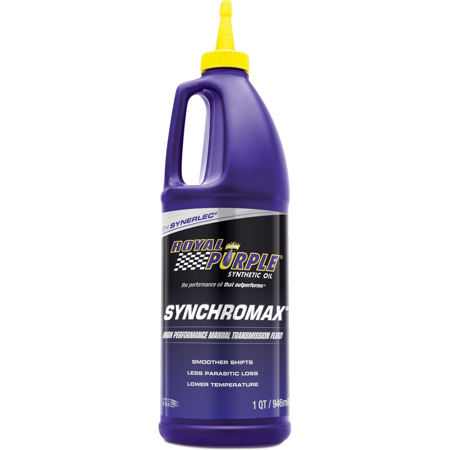 Amazon.com: Royal Purple 12512 Synchromax High Performance Synthetic Manual  Transmission Fluid - 1 qt. (Case of 12): Automotive