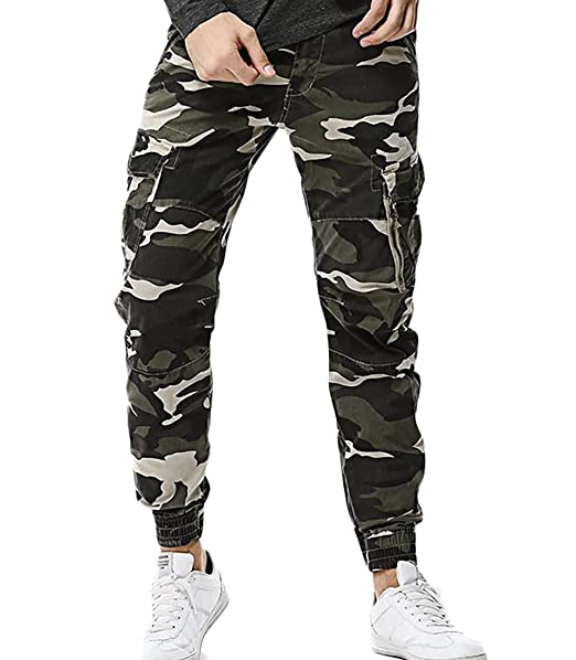 special selection of cute dirt cheap YYG Mens Skinny Fit Straight Fit Trousers Casual Camo ...