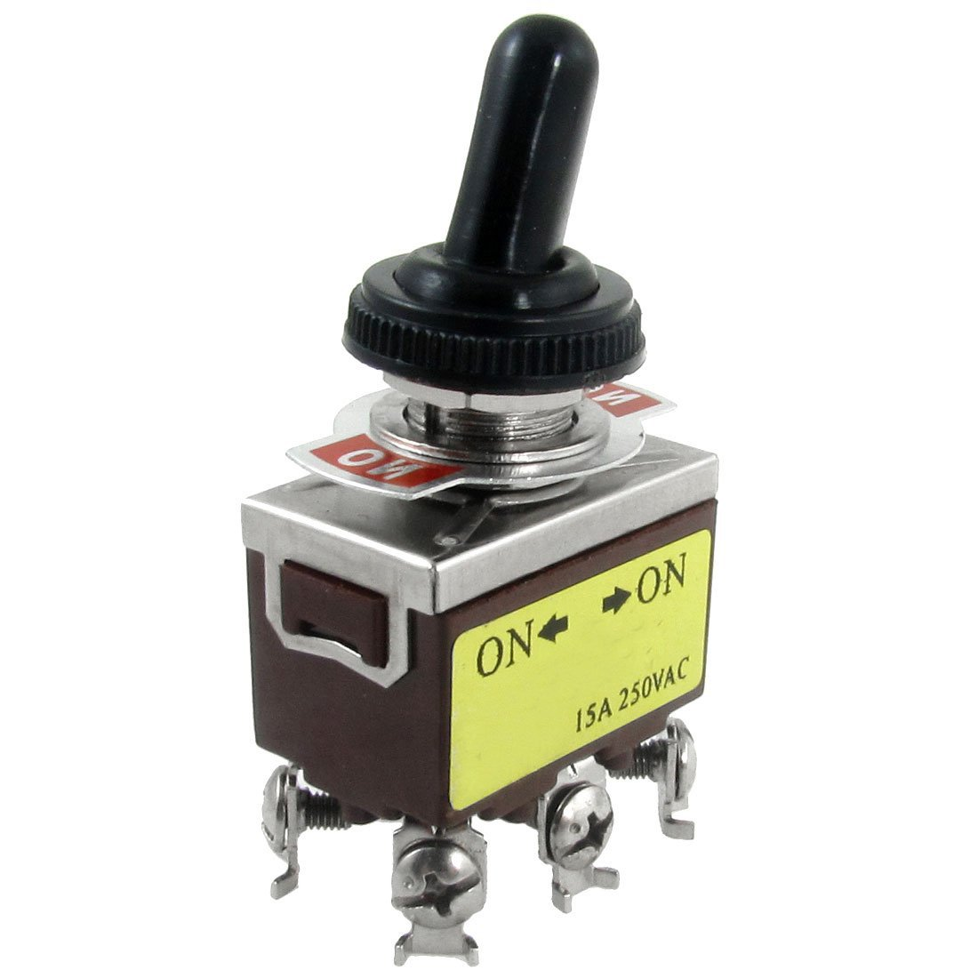 SODIAL(R) AC 250V 15A on/on 2 Position DPDT Toggle Switch with Waterproof Boot