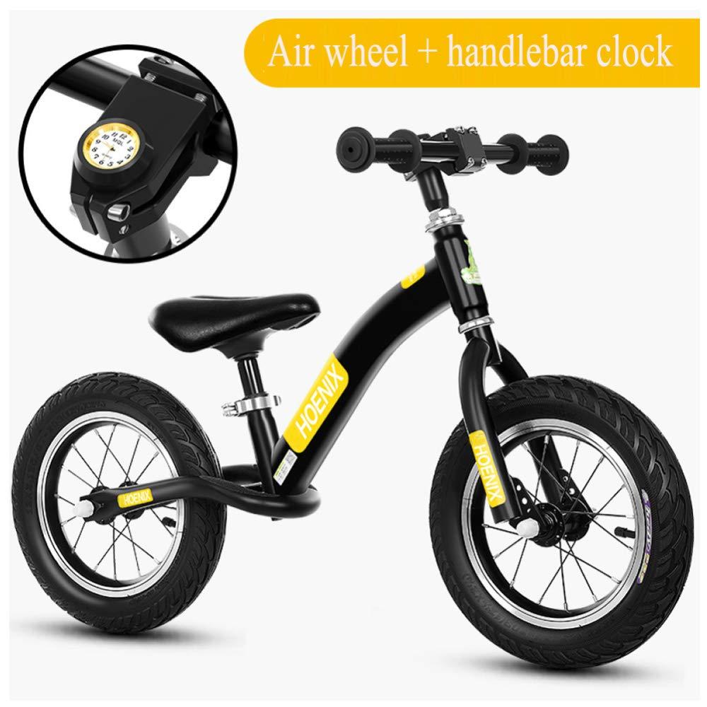 GSDZN - Kinder Laufrad Lauflernrad Kinderrad   Leichtgewichtler   Ausgestattet Mit Schutzausrüstung   Eva-Rad Luftreifen   Verstellbare Sitzhöhe   2-6 Jahre,B_Rosa A_Gelb