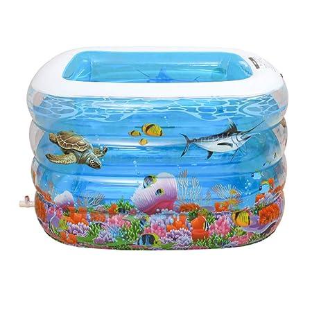 Amazon.com: LYNN piscina inflable, rectángulo elevación ...