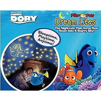 Pillow Pets Disney Finding Dory Dory Dream Lites Stuffed Animal Night Light: Toys & Games