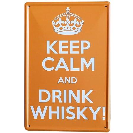 Doitsa 1x Retro Poster Tin Sign Keep Calm and Drink Whisky ...