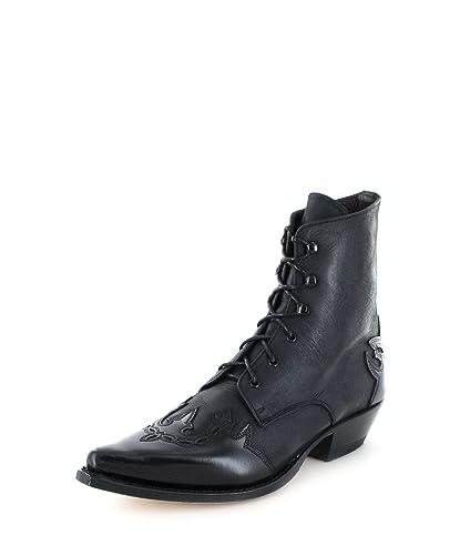 Sendra Boots 4660 Florentic Sprinter Negro Lederstiefelette für Damen und Herren Schwarz, Groesse:39