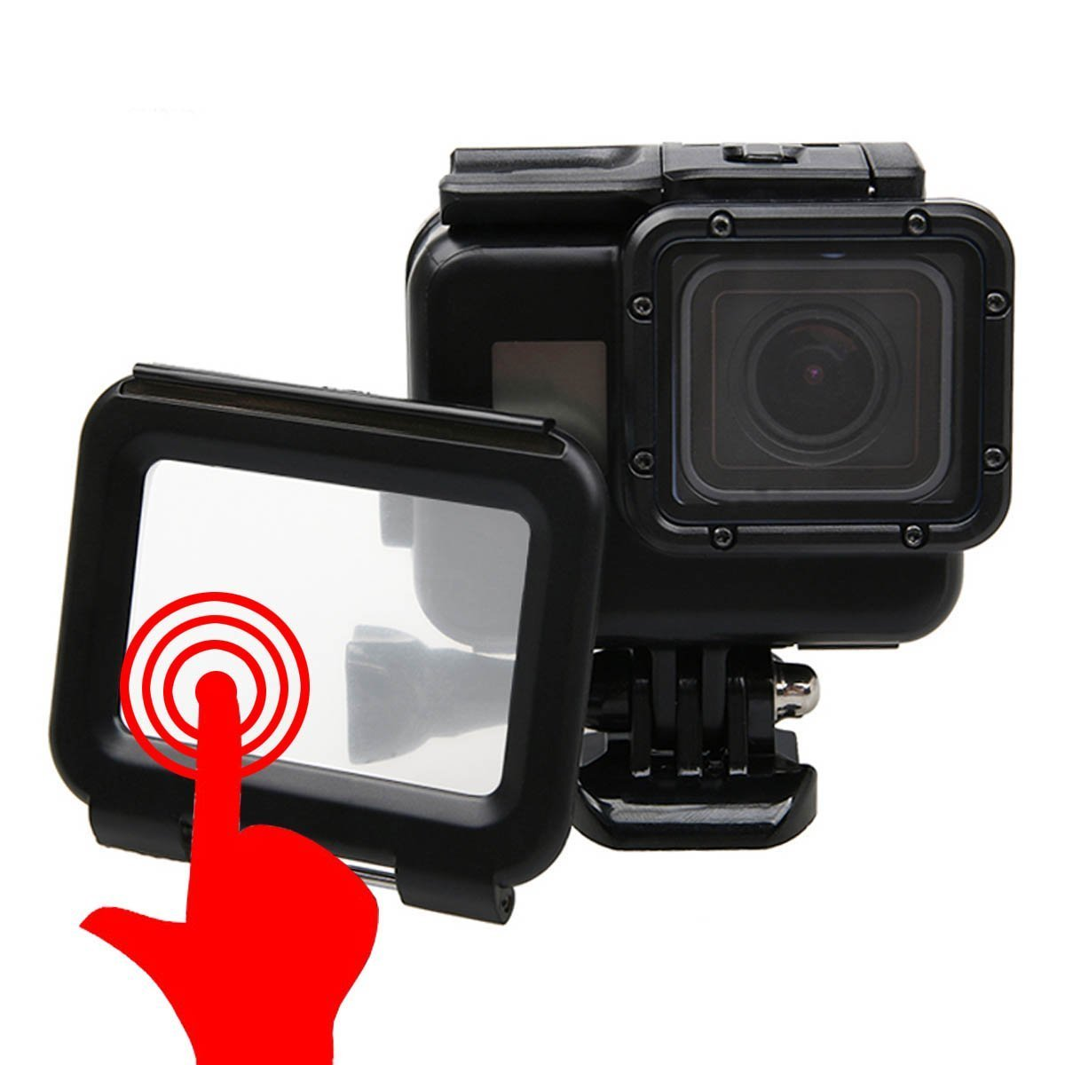 Outtek Waterproof Case for Gopro, Shoot Portable 40M Underwater Waterproof Protective Housing Case Cover with Bracket for GoPro Hero 5 Hero 7 - Black by Outtek