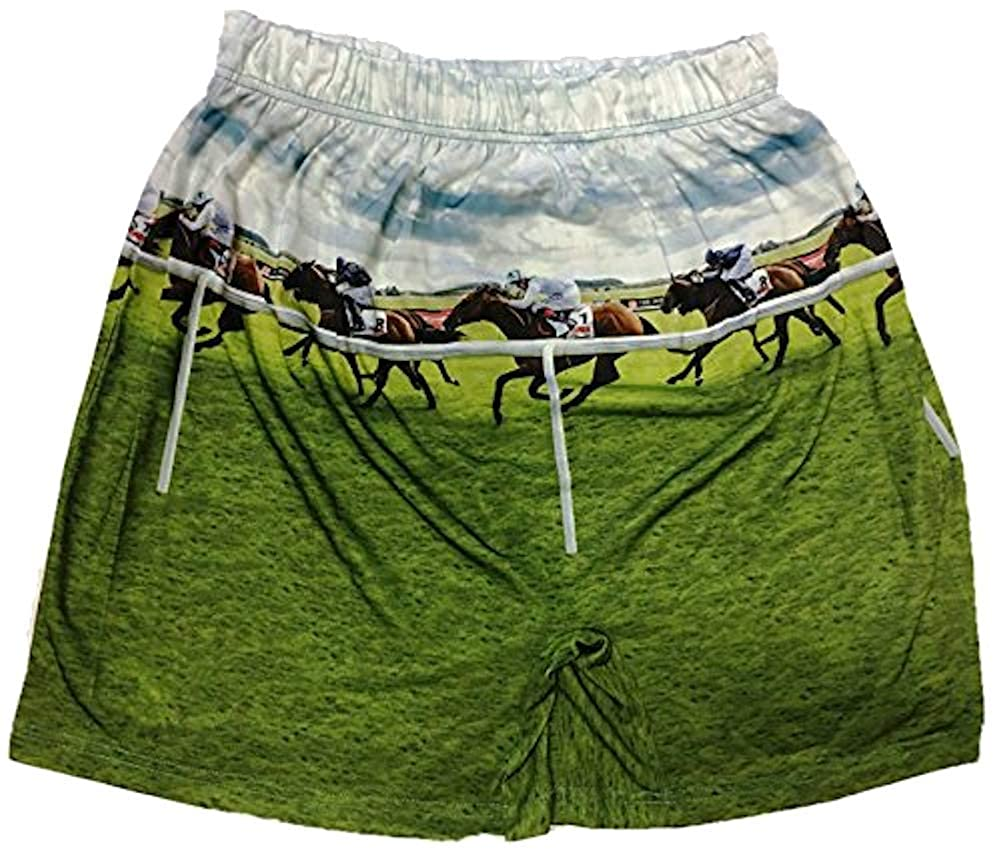 Brief Insanity Boxer Shorts Commando Boxers Kentucky Derby Horse Race Underwear