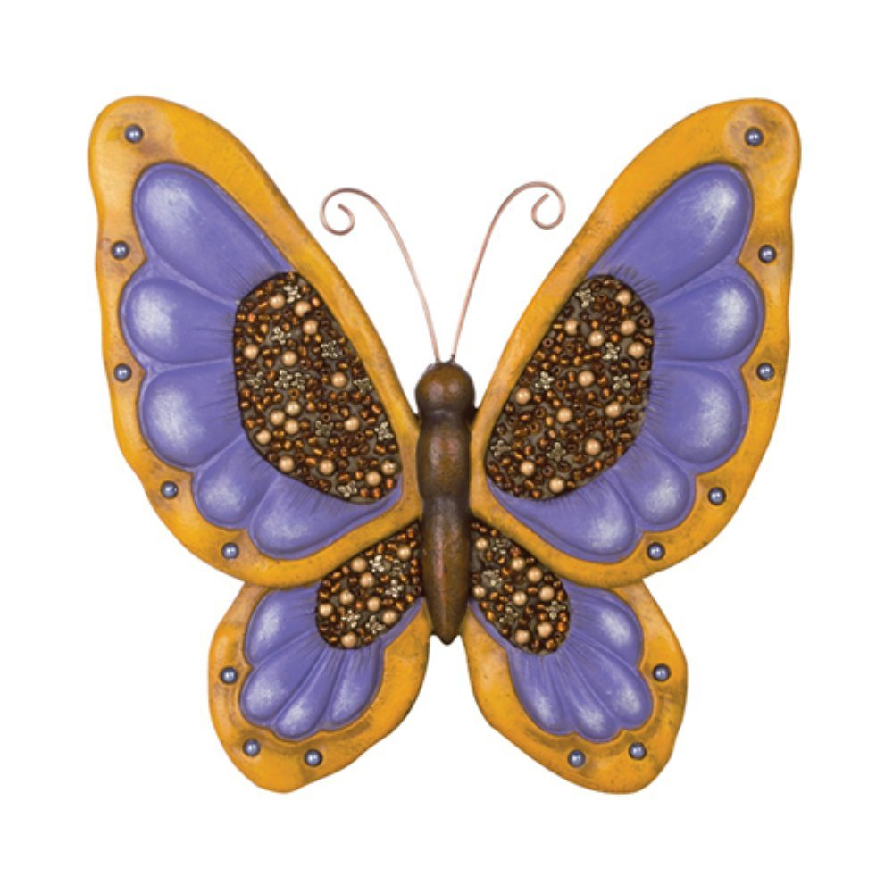 Carson Home Accents CHA10140 Beadworks Garden Stone Butterfly