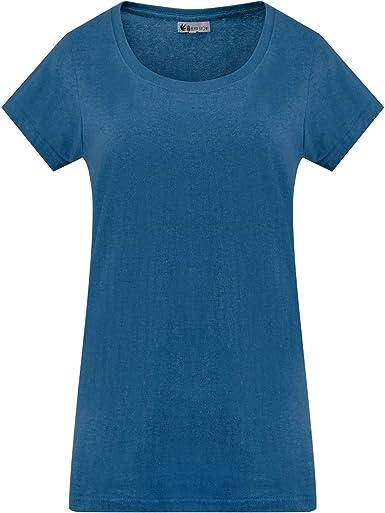 Camiseta de algodón orgánico de cáñamo para mujer ecológica con ...