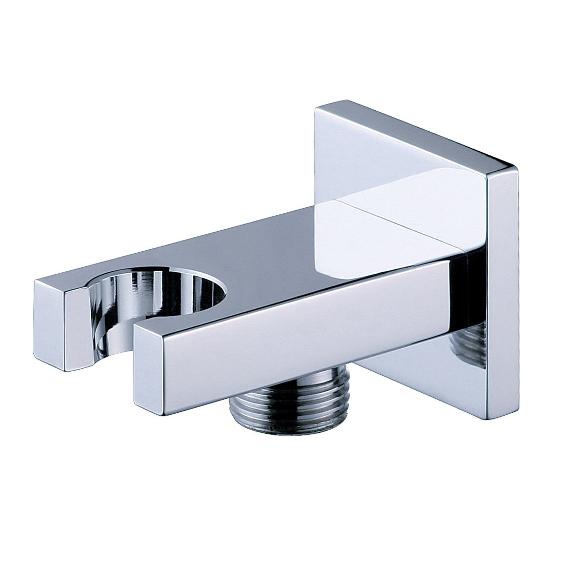good SUMERAIN Solid Brass Shower Water Supply Elbow with Showerhead Bracket Wall Mounted Chrome Finish
