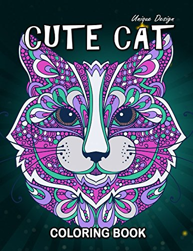 Cute Cat Coloring Book: Stress Relieving Design for Girls, Teen and Adults Coloring Book Easy to Color