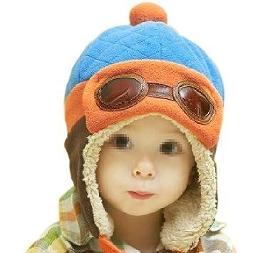 59ff0a16fda33 TININNA Invierno Cálido Bebé Kids Cool Piloto Aviador Gorro De Forro Polar  Cap Orejeras Gorro con Orejeras Cap con Gafas  Amazon.es  Hogar