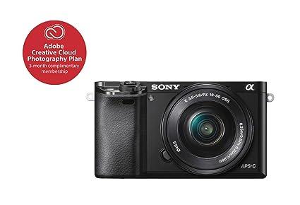 Amazoncom Sony Alpha A6000 Mirrorless Digital Camera 243mp Slr