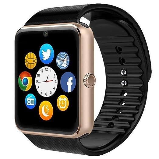 SHOP-STORY - Smartwatch Montre Connectée Bluetooth Herren Homme Femme Bracelet Plastique Cadran Acier Compatible
