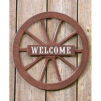 Amazon Com Treasuregurus Llc Large 32 Quot Wood Wagon Wheel