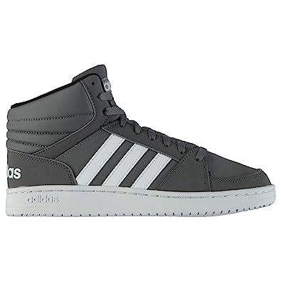 new style 862de f8af3 adidas Scarpe Uomo Sneakers Vs Hoops In Pelle Grigio B74285