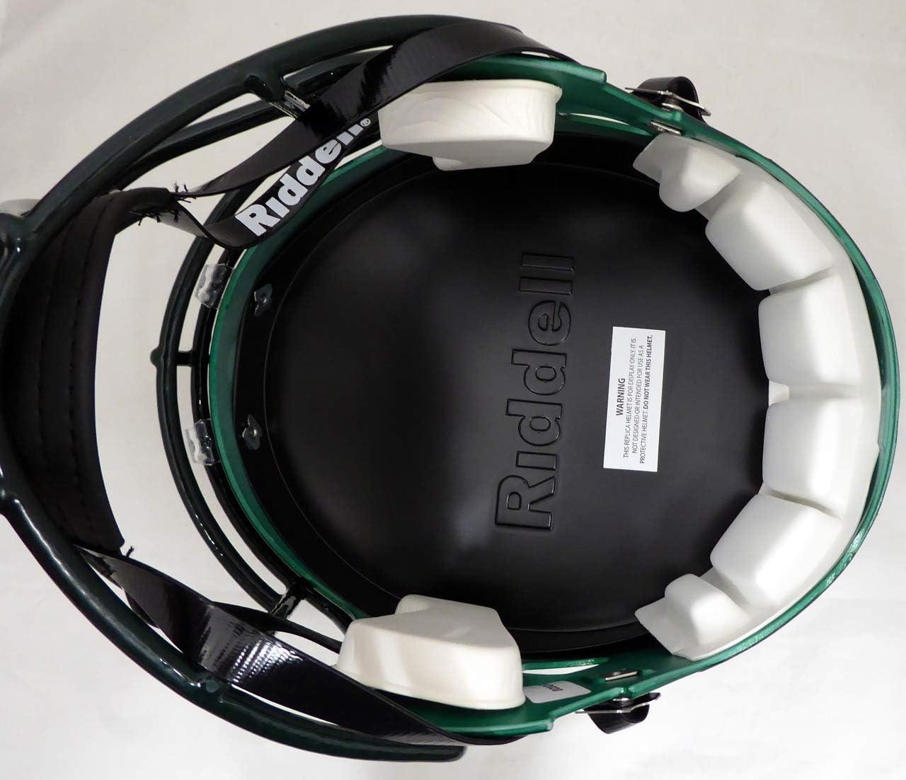 Justin Herbert Autographed Green Oregon Ducks Full Size Speed Helmet Beckett BAS