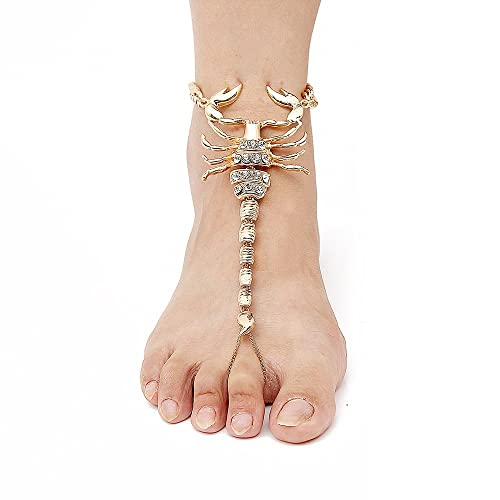 1edc102d748b1 Karen accessories 1 Pair Scorpion Style Statement Foot Jewelry for Women  Costume Beach Barefoot Sandal Anklet
