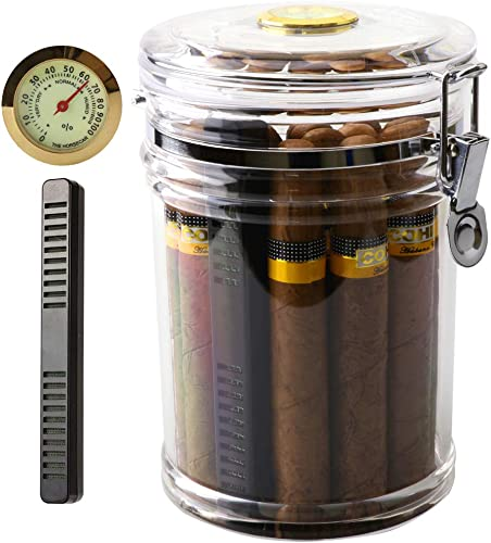 XIFEI-Acrylic-Humidor-Jar-with-Humidifier-and-Hygrometer,humidor