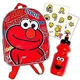 Sesame Street Elmo Preschool Backpack with Water Bottle and...