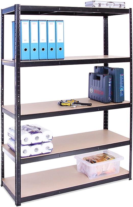 Organisationsst/änder M /& W Bad /& Garage Lagerregal Stehregal Organizer K/üche Metallregale 4-stufiges Regal