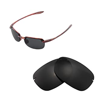 34d457bfae Walleva Replacement Lenses for Maui Jim Sandy Beach Sunglasses - Multiple  Options Available (Black -