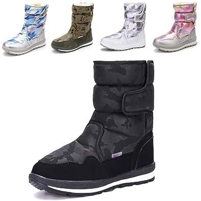 64550f0ffbe DADAWEN Girl's Boy's Waterproof Outdoor Cold Weather Snow Boots  (Toddler/Little Kid/Big Kid)