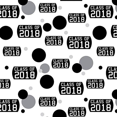 Premium Gift Wrapping Paper Roll Pattern - Graduation Class of - 2018 Graduation