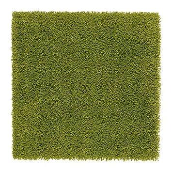 Ikea Hampen Rug High Pile Bright Green 80x80 Cm