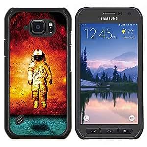 TECHCASE---Cubierta de la caja de protección para la piel dura ** Samsung Galaxy S6 Active G890A ** --Grunge Astronauta Arte