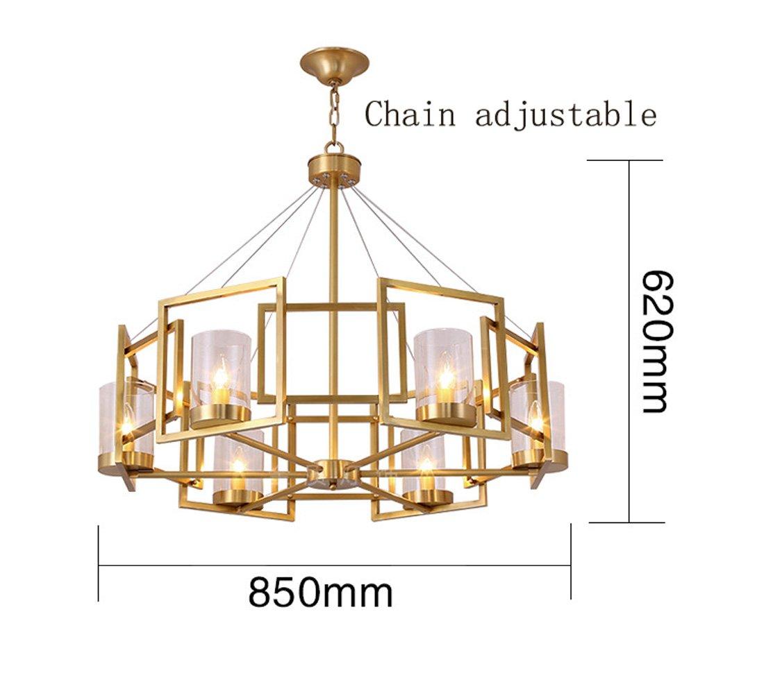 Ydxwan Ydxwan Ydxwan 6 8 Nordic Moderne Eisen Glas Kronleuchter Kerze Kronleuchter Modell Zimmer Hotel   Clubs Wohnzimmer Lampe (ohne Birne) B07CMSFM3X | Verrückter Preis  caa51f
