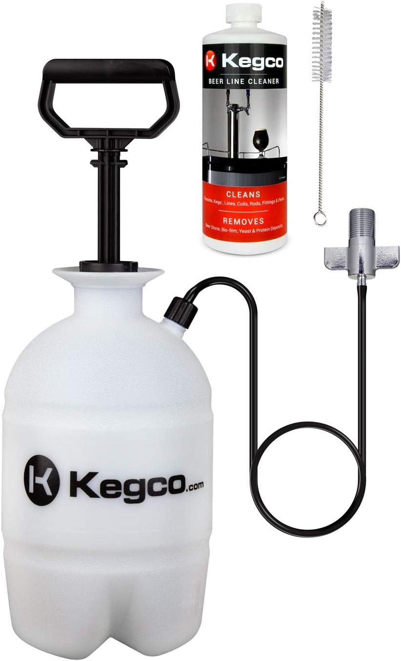 kegco KC pck32 Deluxe Bomba de mano a presión barril cerveza Kit ...