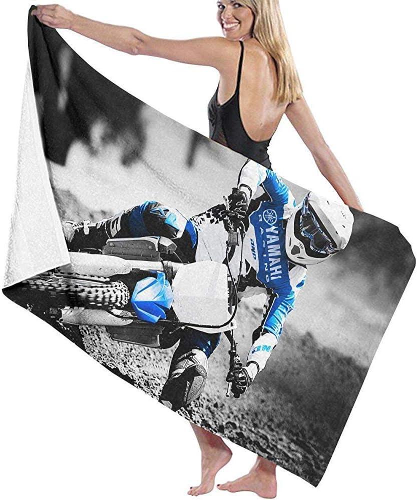 Serviette de Bain Moto Motocross Serviette de Plage Microfibre Large Tr/ès Absorbant Doux 80 X 130 Cm