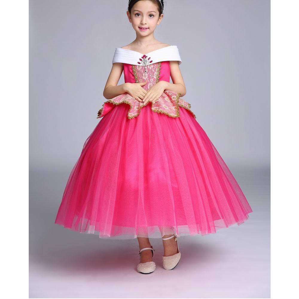 Vestido de fiesta de la princesa durmiente para niñas, sin mangas ...