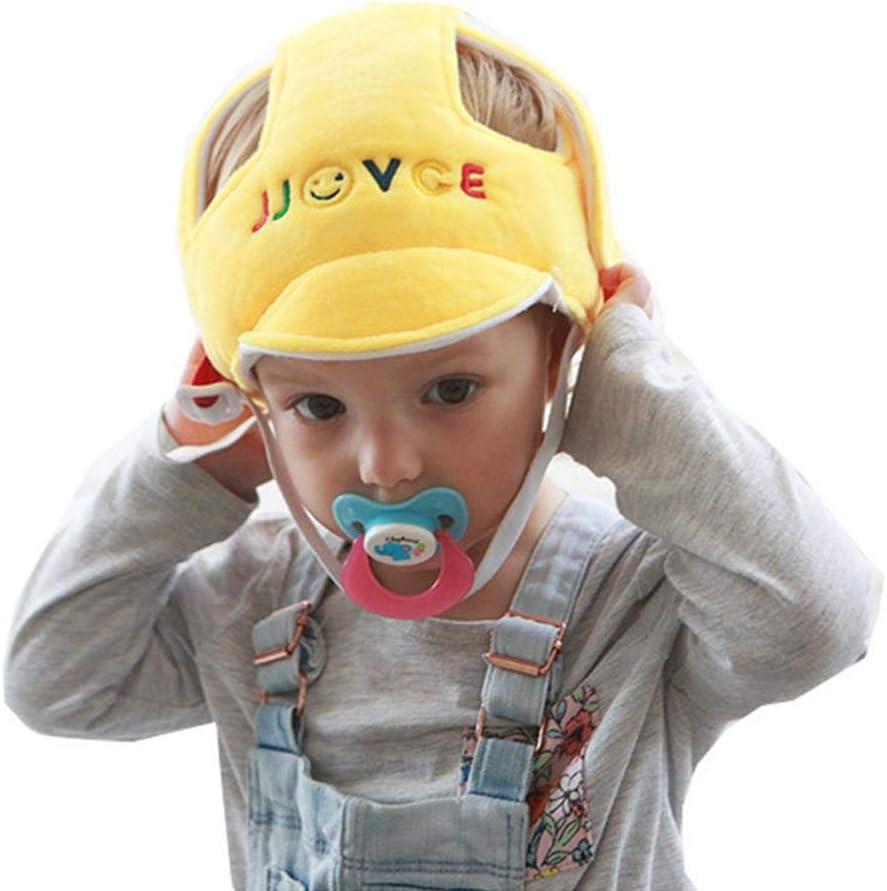 Dadahuam Baby Sicherheitshelm Anti-Fallen Leichte Atmungsaktive Sto/ßfeste Einstellbare Kopfschutz M/ütze Zum Lauflernen Schutzhelm