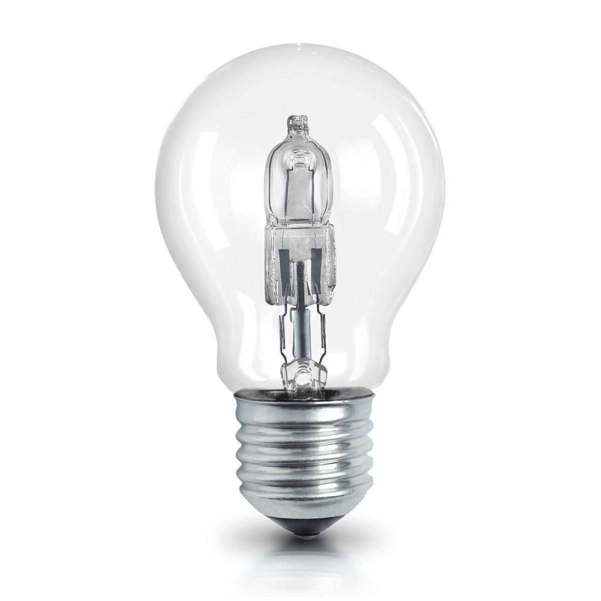 OSRAM Halogen Lampe E27 dimmbar Classic A /  46W - 60 Watt-Ersatz, Halogen Birne als Kolbenlampe / klar, warmweiß - 2700K, 5er-Pack Ledvance 4052899200357