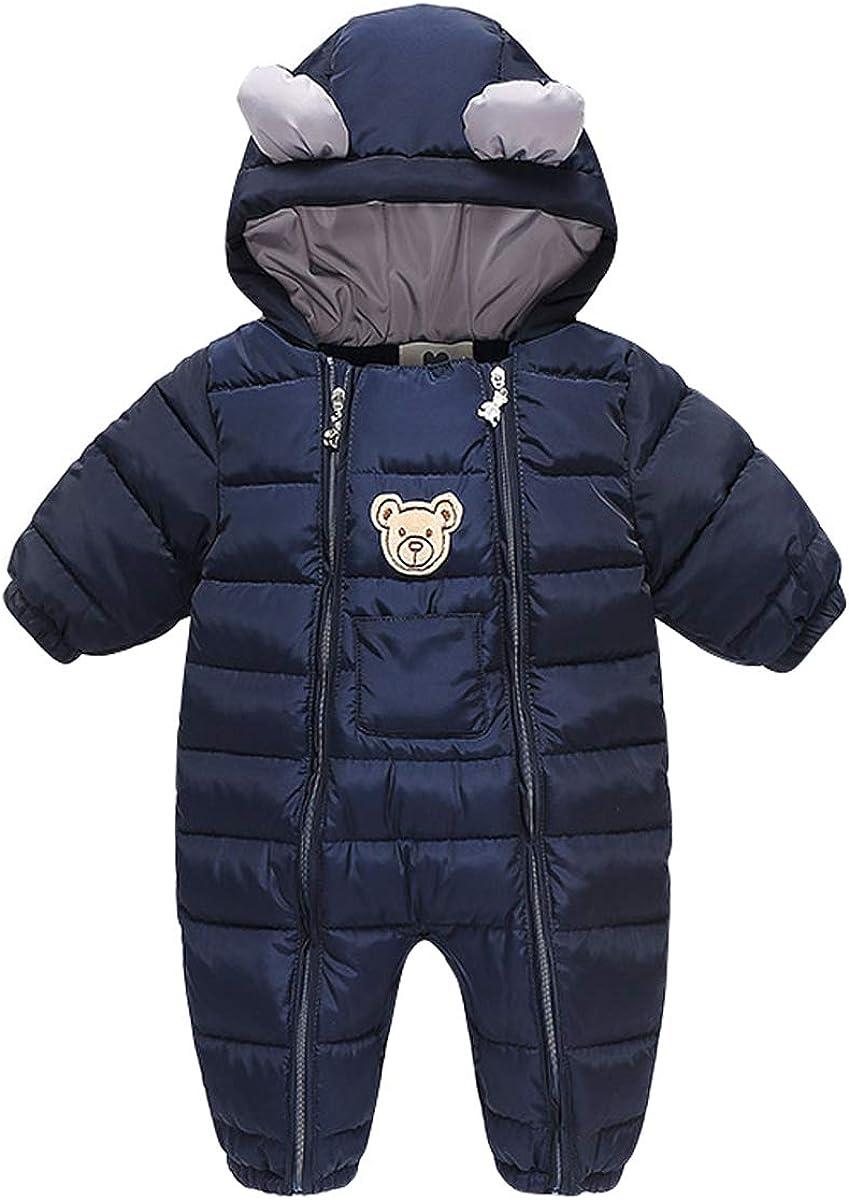 Lemohome Baby Snowsuit Outwear Romper Winter Warm Outfits
