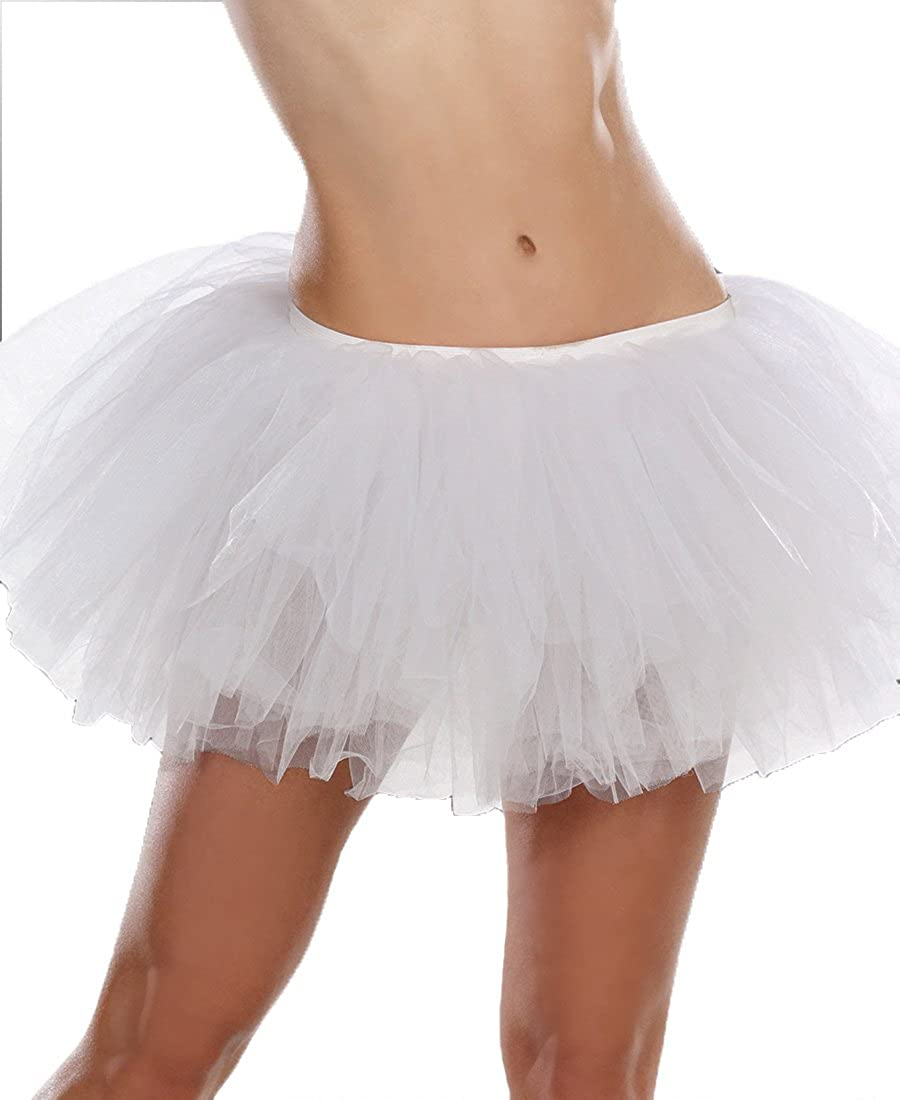 Dreamgirl 7846 Women's Light-Up Tutu Petticoat With Multiple Layers
