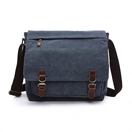849a564290 Image Unavailable. Image not available for. Color  Canvas Leather Crossbody Bag  Men Military Army Vintage Messenger Bags Postman Large Shoulder ...