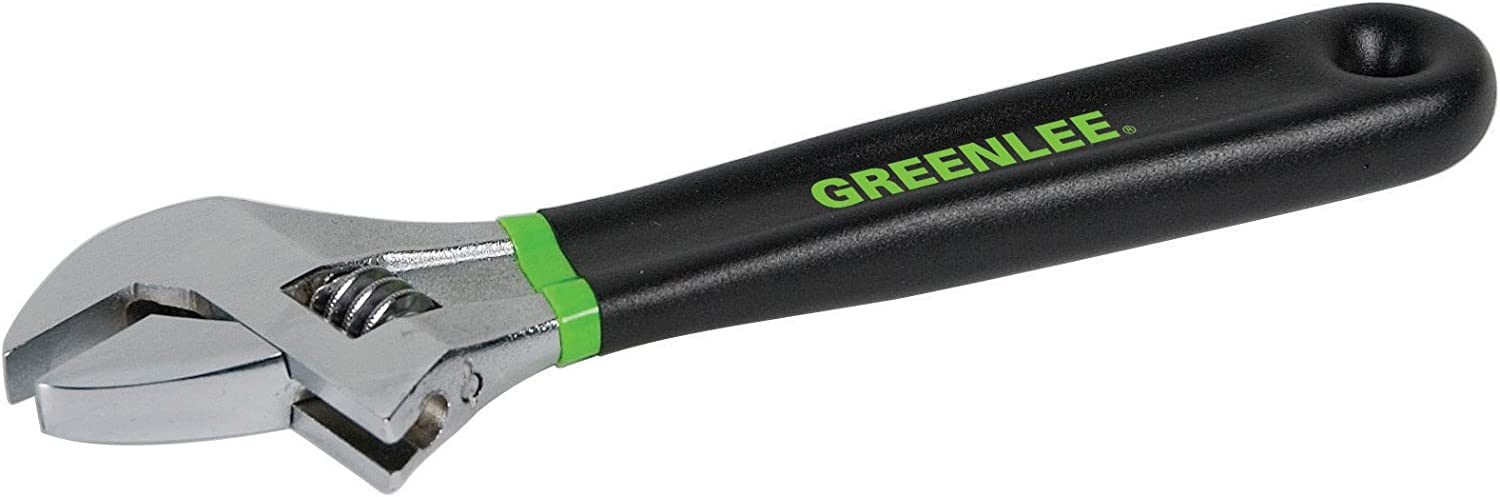 Greenlee 0154-08D Adjustable Wrench with Dipped Handle, 8 Inches