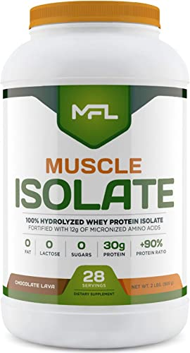 MFL 100 Isolate Protein l 30g of Protein l 12g Amino Acids l Keto Friendly l Low Carbs l 2 lbs. Chocolate Lava